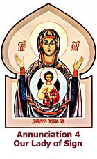 Annunciation-Our Lady of Sign icon-4