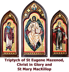 Triptych-of-St-Eugene-Mazenod-Christ-in-Glory-and-St-Mary-MacKillop