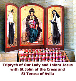 Triptych-of-Our-Lady-and-Infant-Jesus-with-St-John-of-the-Cross-and-St-Teresa-of-Avila