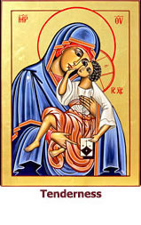 Our lady of Tenderness icon (Our Lady of Mount Carmel)