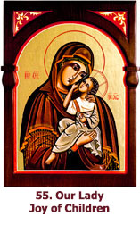 55. Our Lady Joy of Children icon