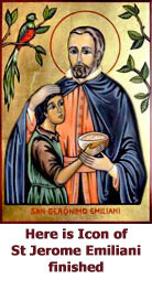 Here is Icon of St Jerome Emiliani finished