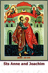 St Anne and St Joachim meet at the Gate of Jerusalem icon