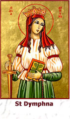 St-Dymphna-Patroness for mental and emotional disorders icon