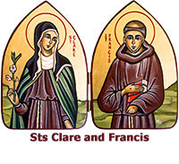 St-Clare-and-St-Francis-icon