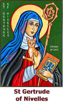 St-Gertrude-of-Nivelles-Patroness-of-Cats-icon