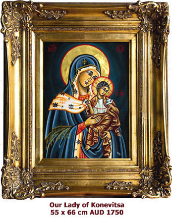 Our Lady of Konevitsa,  Godmother from Konevitsa (Konevsky) icon